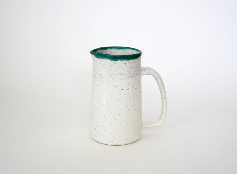 Lucia Green Rim Pitcher
