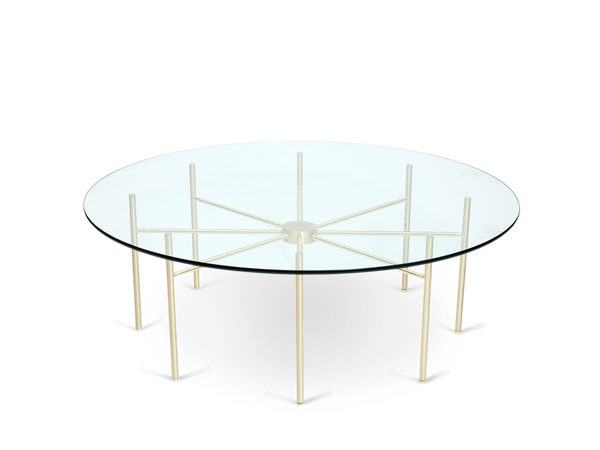 Radial Coffee Table - Satin Brass
