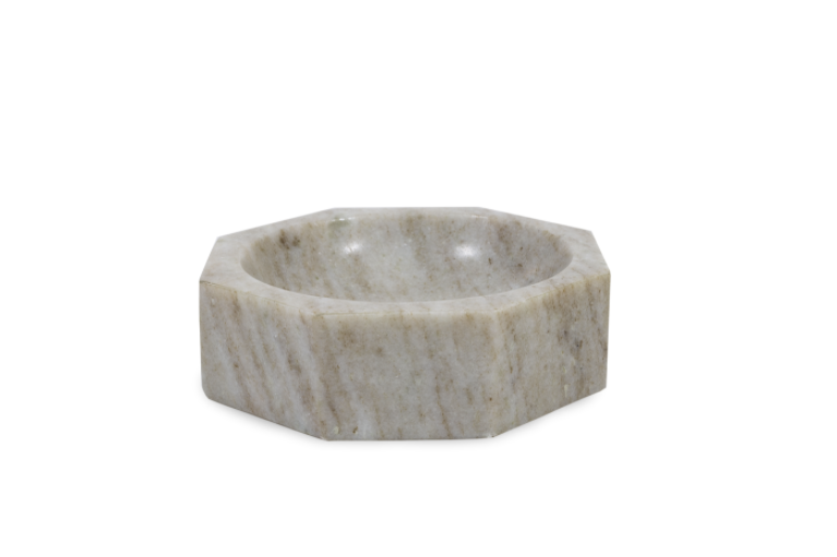 Small Beige Marble Bowl