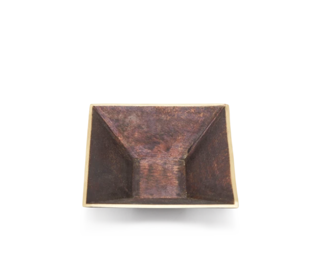 Square Bronze Dish