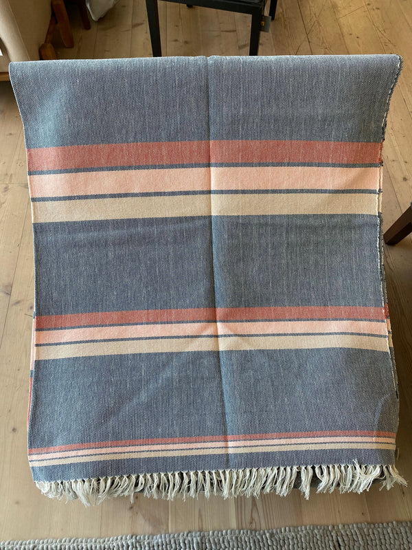 Blue Pink Stripe Throw