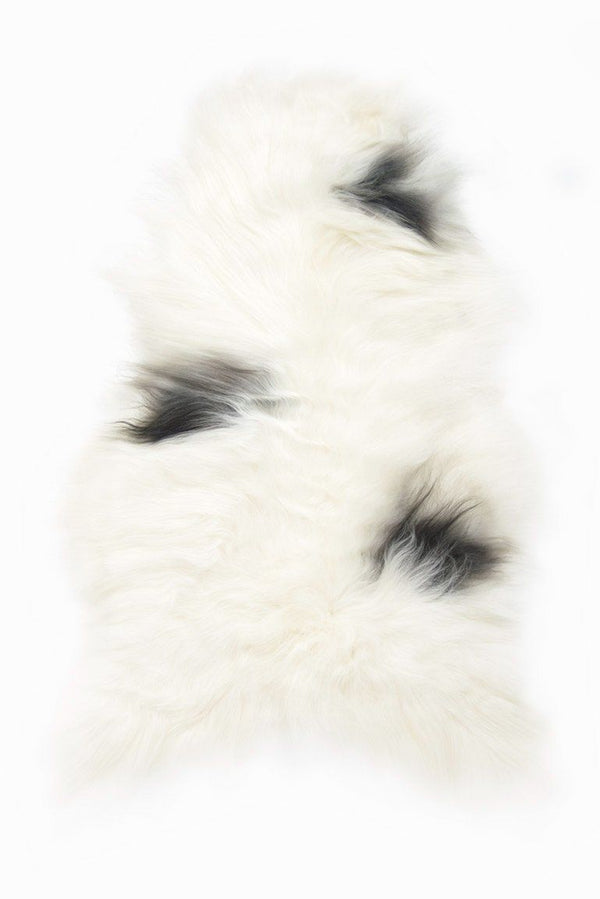(White Light) Spotted Icelandic Sheepskin