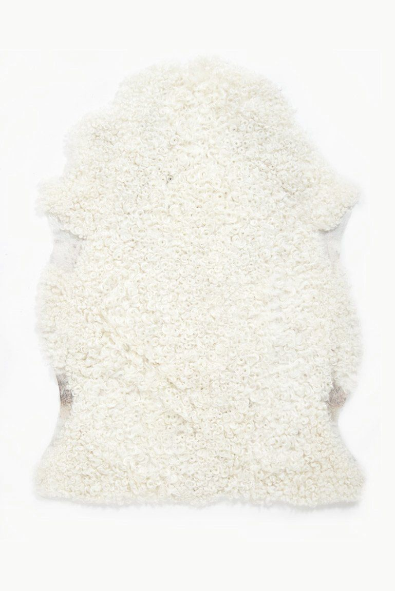 (White Light) Short Wool Gotland Sheepskin White