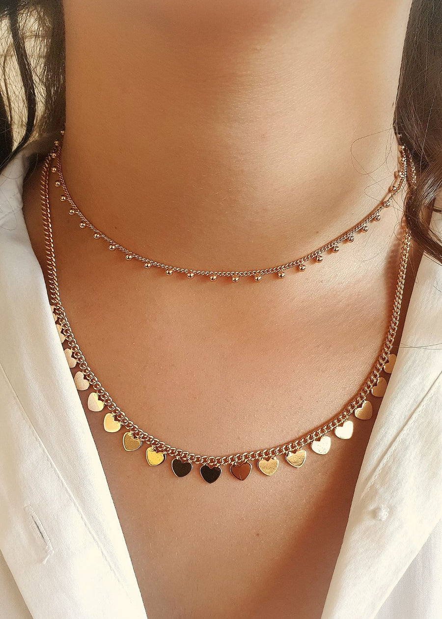 Line of Hearts Necklace