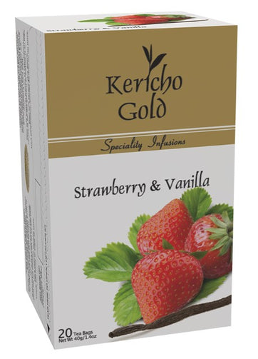 Kericho Gold Strawberry & Vanilla I Pure Kenyan Tea