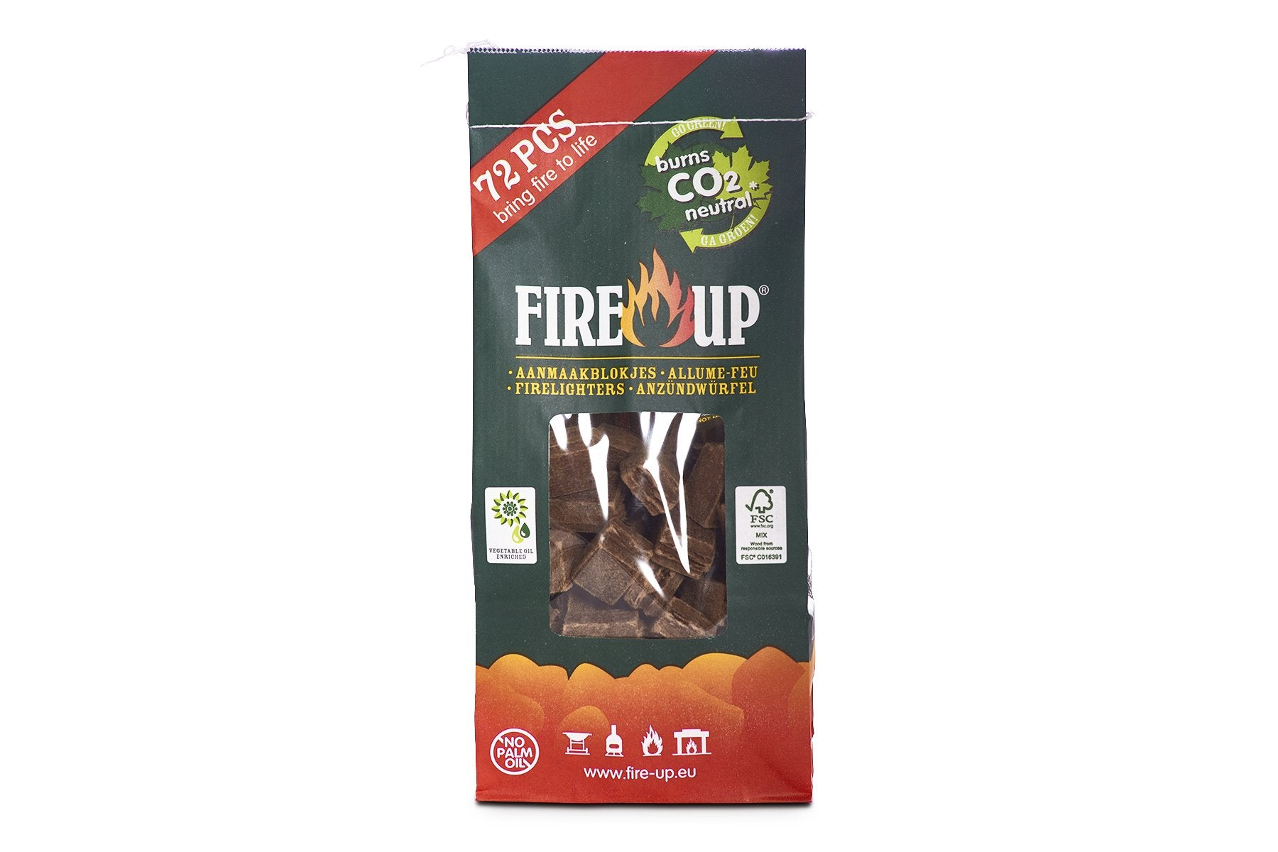 Accendifuoco naturale 72 pz FIRE-UP