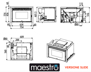 Inserto a pellet MCZ Boxtherm 70 Maestro