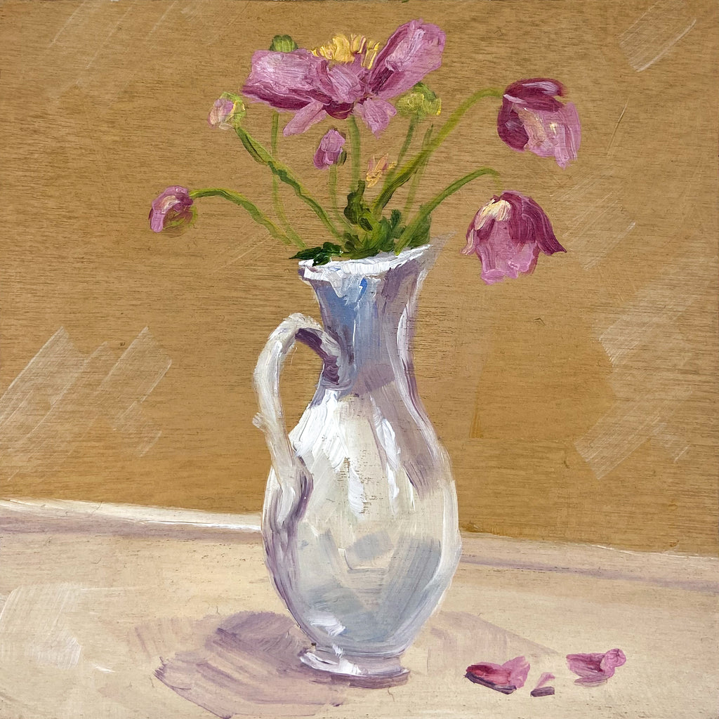 Pink Ones in the White Vase
