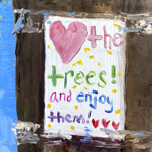 <3 the Trees: 2 on Blue