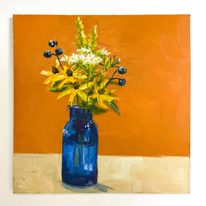 Daisies on Orange