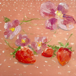 Strawberries and Blossoms