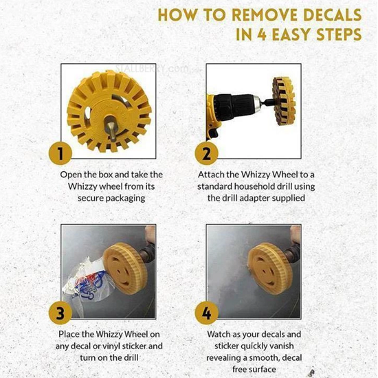 Eraser Removal Wheel Kit - Limited Time Sale!  UP TO 65% OFF!