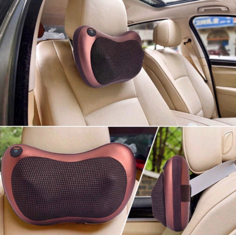 (60% OFF TODAY) - Magic Shiatsu Pillow Massager with Heat for Home and Car use!