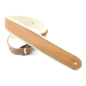 "DSL 2.5"" Rolled Edge Buckle Leather Strap Tan/Beige"