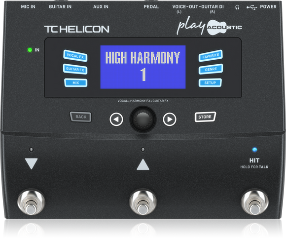 TC HELICON Play Acoustic Vocal and Acoustic Guitar Effects