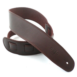 "DSL 2.5"" Single Ply Leather Strap Brown/Brown Stitch"