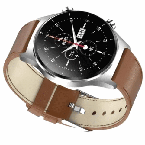 Leather or steel banded smartwatches