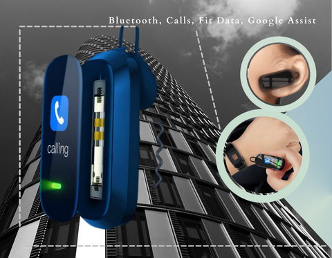 smart call watch with bluetooth, google assist and removable earpiece