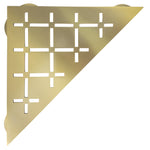 Frosch Stainless Steel Shower Shelf, Corner - Triangle (Brushed Brass)