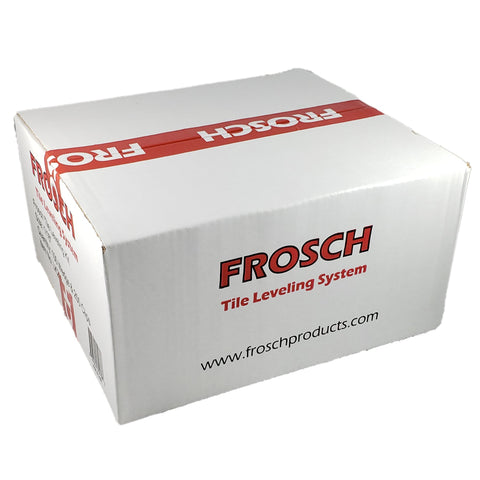 "Frosch Tile Leveling System Kit - 1.5mm (1/16""), 250 Clips & 100 Wedges"