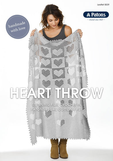 Leaflet 0039 - Patons Heart Throw
