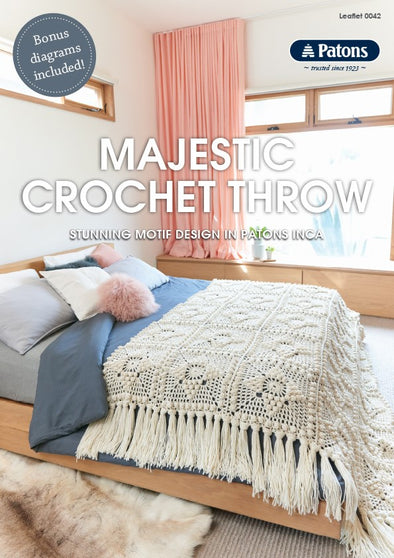Leaflet 0042 - Patons Majestic crochet throw