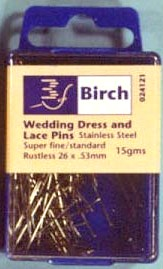 Pins - Wedding Dress Lace Stainless steel rustless 26 x 53 mm