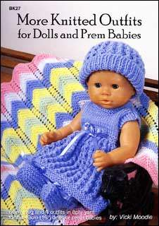 Book bk27 - More Knitted Outfits for Dolls & prem Babies