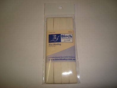 Birch Bias Binding 12 mm - 8024-36 Ecru