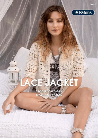 Leaflet 0021 - Patons Lace Jacket in 4 ply Regal