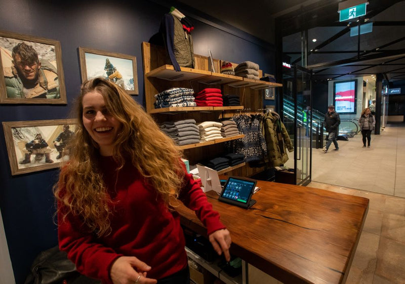 WORKING IN THE EDMUND HILLARY STORE