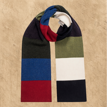 SCARF - STRIPED LAMBSWOOL MULTICOLOURED