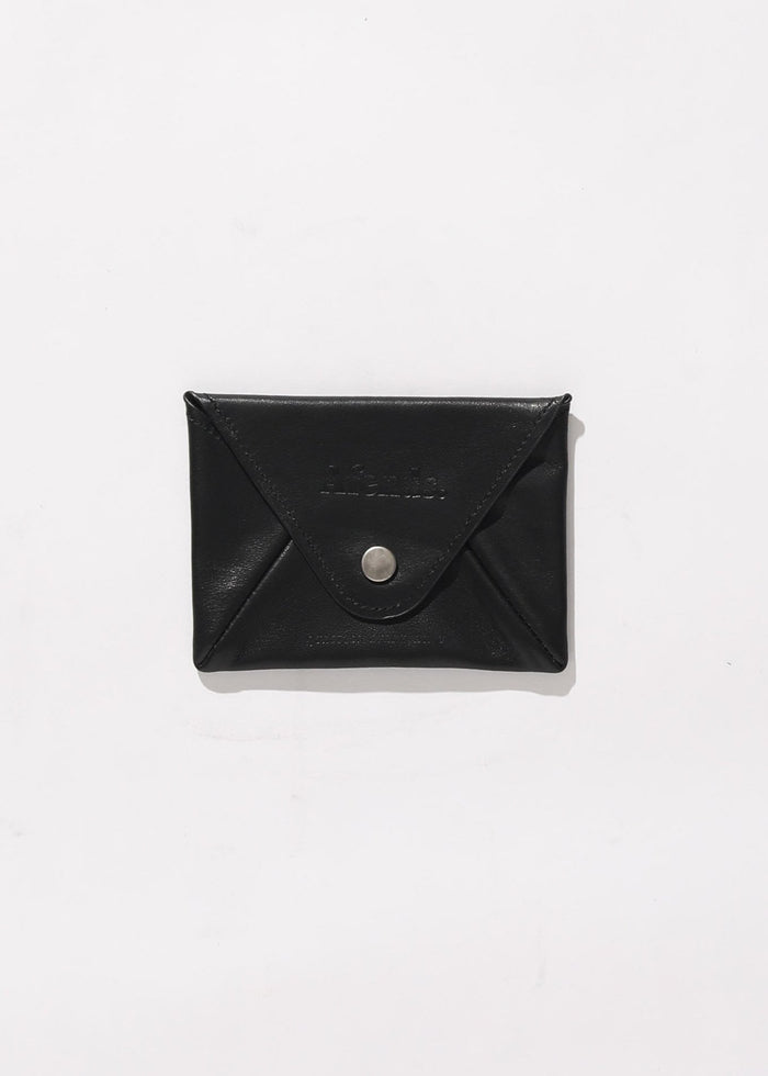 Afends Unisex Holdall - Leather Pouch Wallet - Black