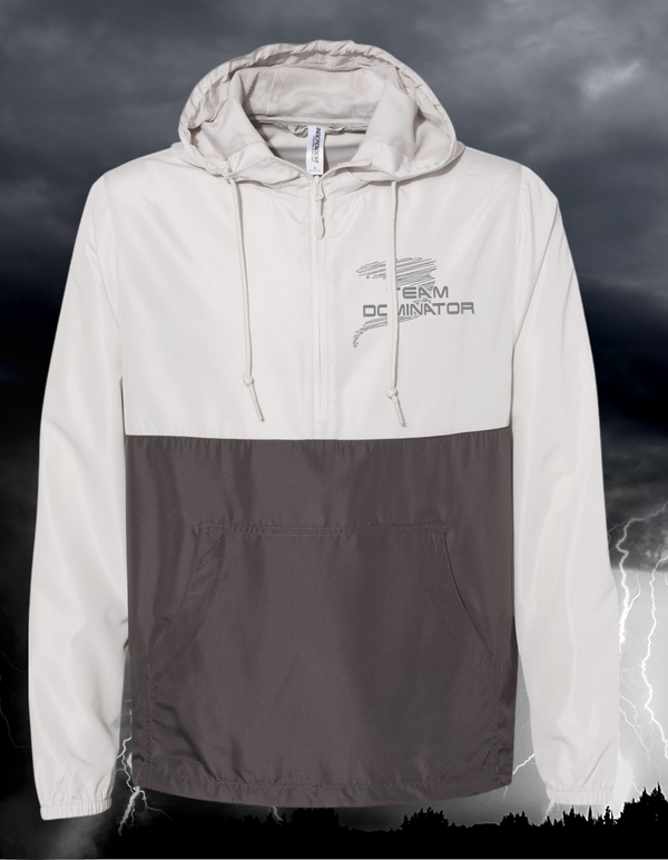 **REFLECTIVE LOGO** UNISEX - Lightweight Quarter-Zip Windbreaker Pullover Jacket - Independent Trading Co