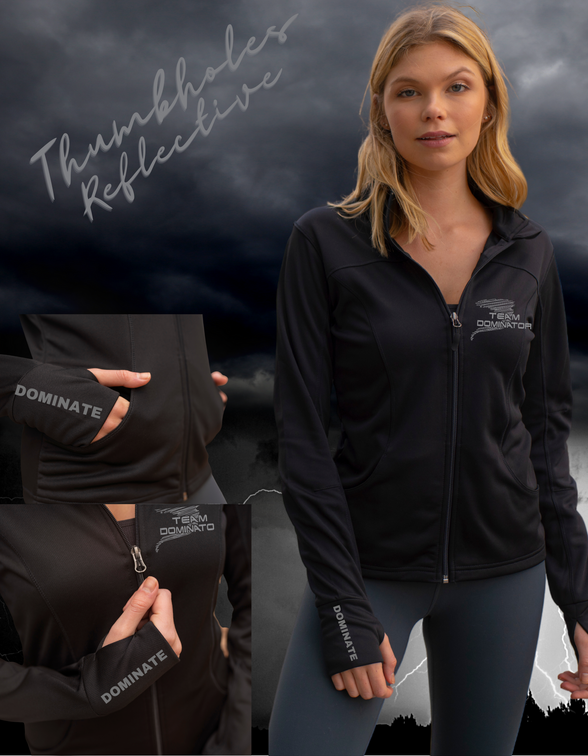 Women's Poly-Tech Full-Zip Track Jacket - INDEPENDENT TRADING CO. ***REFLECTIVE LOGO***