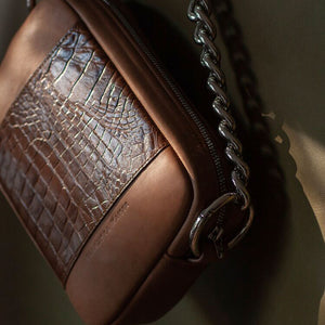 "Crossbody ""Croco Brown"""
