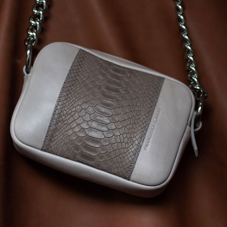 "Crossbody ""Croco Grey"""