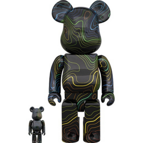 Medicom Toys - Bearbrick x Hypebeast 100% & 400% Set Black Multicolor