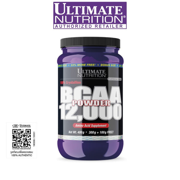 Ultimate Nutrition BCAA 12000 Powder 400g - Unflavored