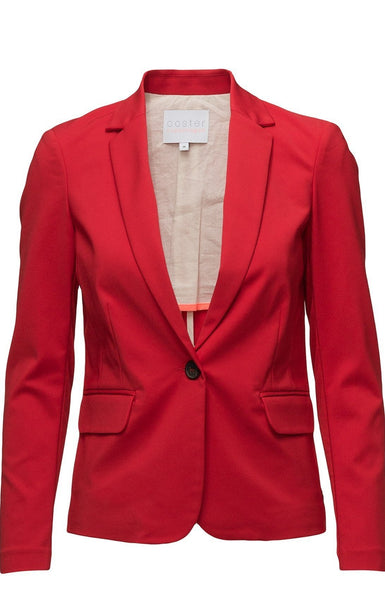 Coster Copenhagen Jacket w. rib at side -Haute Red