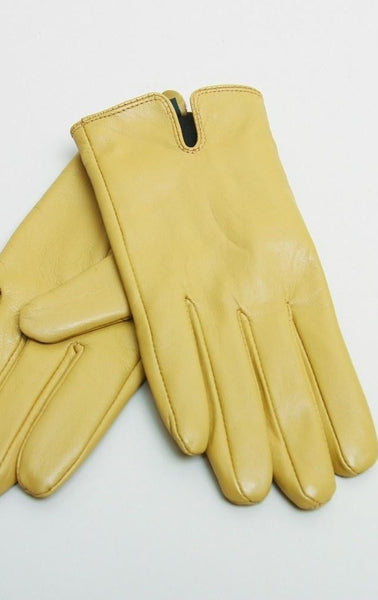 Noa Noa Colorific Leather Gloves - Mustard Gold