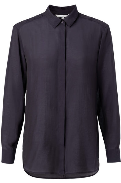 Yaya Sheer Blouse - dark blue