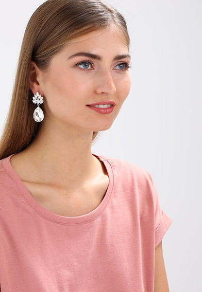 Snö of sweden Rush Drop Pendant Earrings - silver / grey