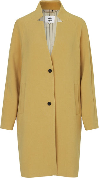 Noa Noa Soft Structure Coat - Mustard Gold