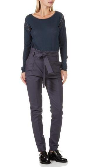 Noa Noa Basic Stretch Trousers- Odyssey Gray