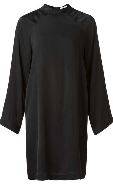 YAYA Woven Dress Satin - black