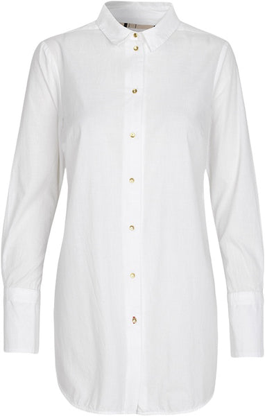 Noa Noa Organic End on End Tunic shirt - Cloud Dancer