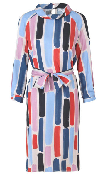 Noa Noa Lush Tencel Dress - Print Blue
