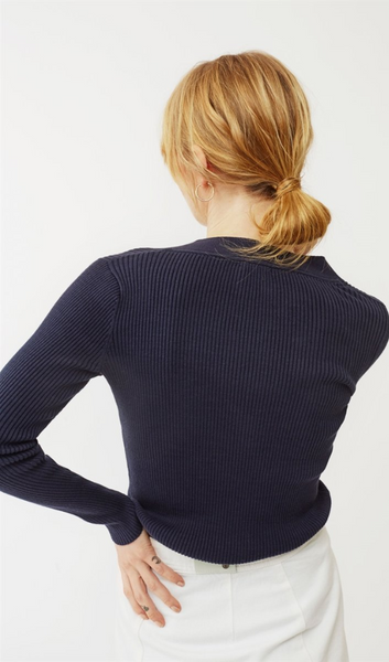 Twist & Tango Miriam Button Sweater - Navy