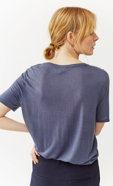 Twist & Tango Iris Pocket Tee - Greyish Blue
